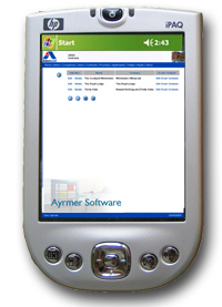 pda user interface